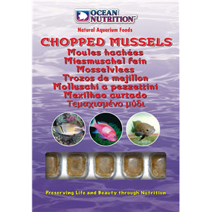 Ocean Nutrition Chopped Whole Mussels 100g - Marine World Aquatics