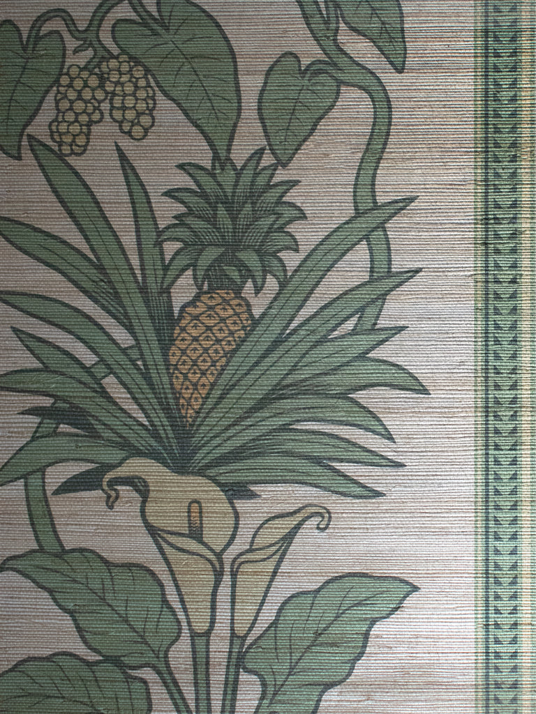 Botanize Heritage | Grasscloth 'Palm Green' Sample