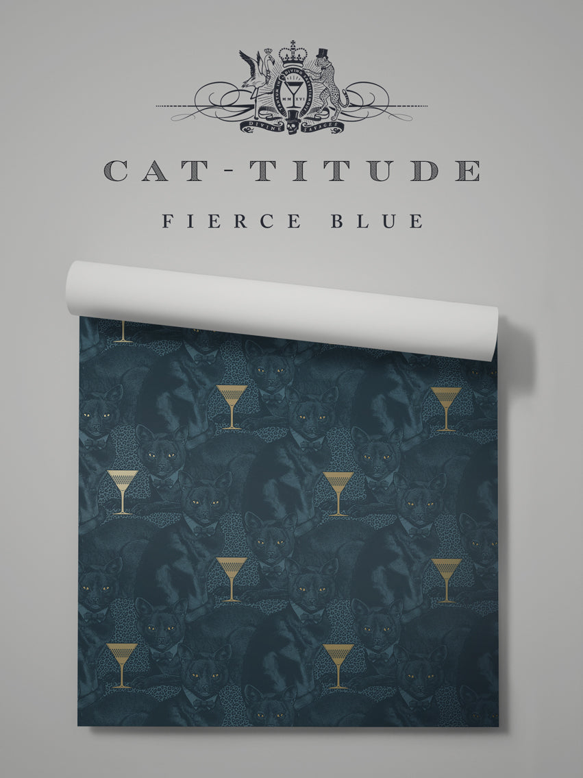 Cat-titude 'Fierce Blue' Sample