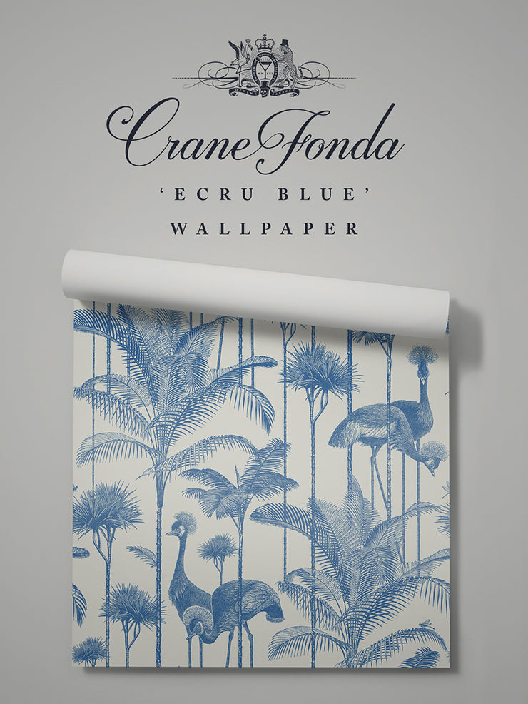 Crane Fonda 'Ecru Blue' Sample