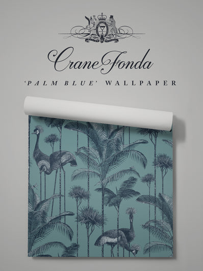 Crane Fonda 'Palm Blue' Sample