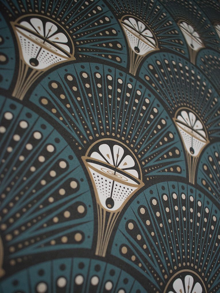 Deco Martini Teal Best Wallpaper Murals Divine Savages