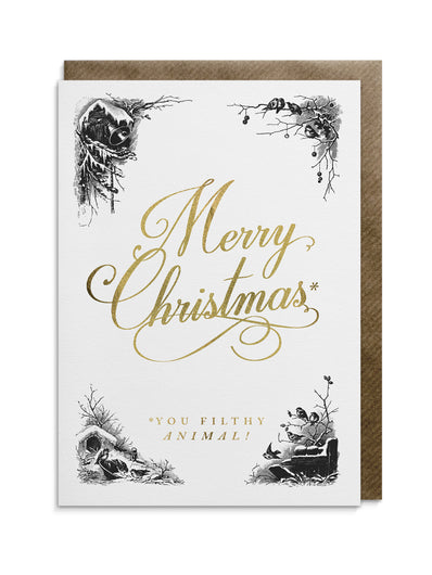 Merry Christmas Ya Filthy Animal Card.Creative Greeting Cards Divine Savages Tagged Filthy