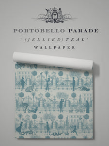 Portobello Parade 'Jellied Teal' Sample