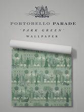 Load image into Gallery viewer, Portobello Parade 'Park Green' Sample
