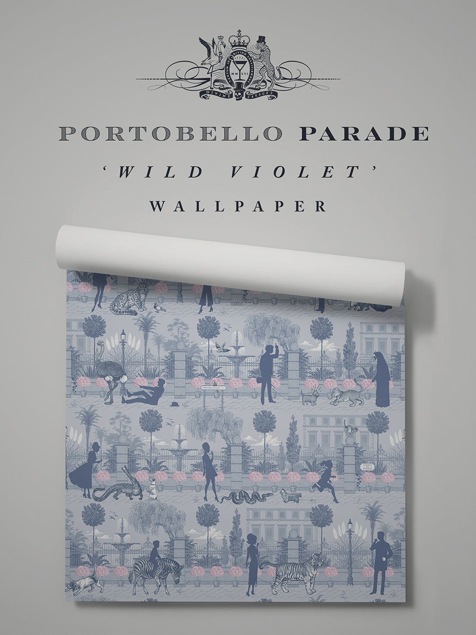 Portobello Parade 'Wild Violet' Sample