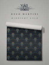 Load image into Gallery viewer, Deco Martini 'Midnight Gold'