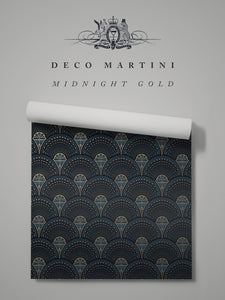 Deco Martini 'Midnight Gold'