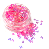 Pink Butterfly Glitter Pot - Flick & Flutter Beauty Supplies Australia