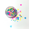 Neon Hearts Glitter Pot - Flick & Flutter Beauty Supplies Australia