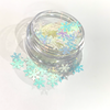 Blue/White Snow Flake Glitter - Flick & Flutter Beauty Supplies Australia