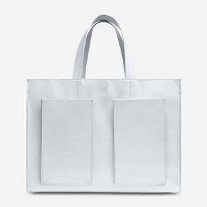 Fields Tote - White Pebble