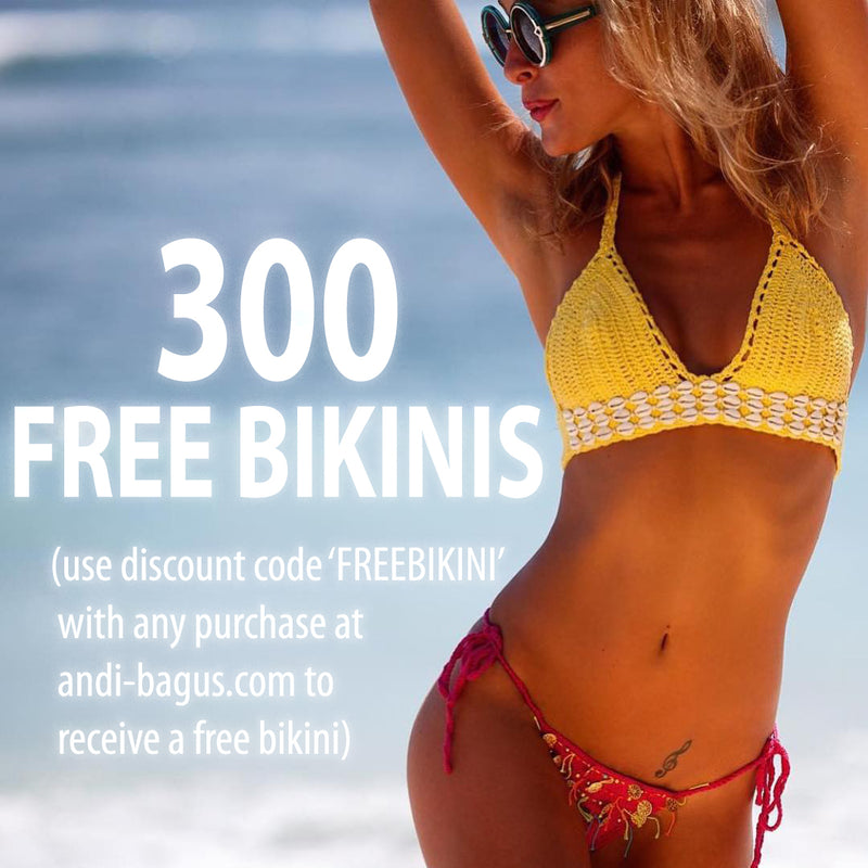 300K @andi_bagus Instagram Followers = 300 Free Bikinis!