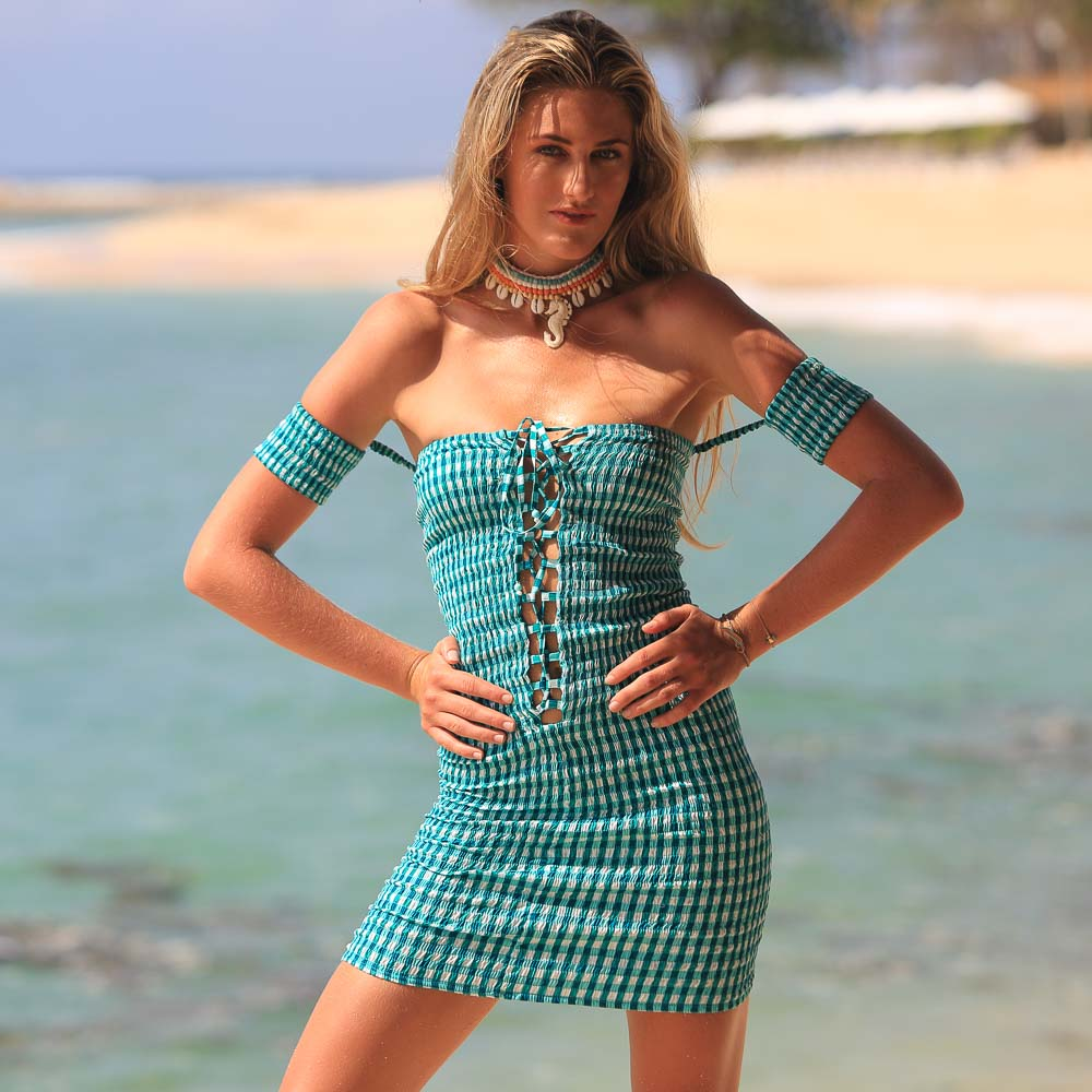 Bardot Gingham Dress