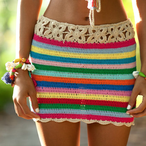 Plain Malibu Knit Cheeky Shorts