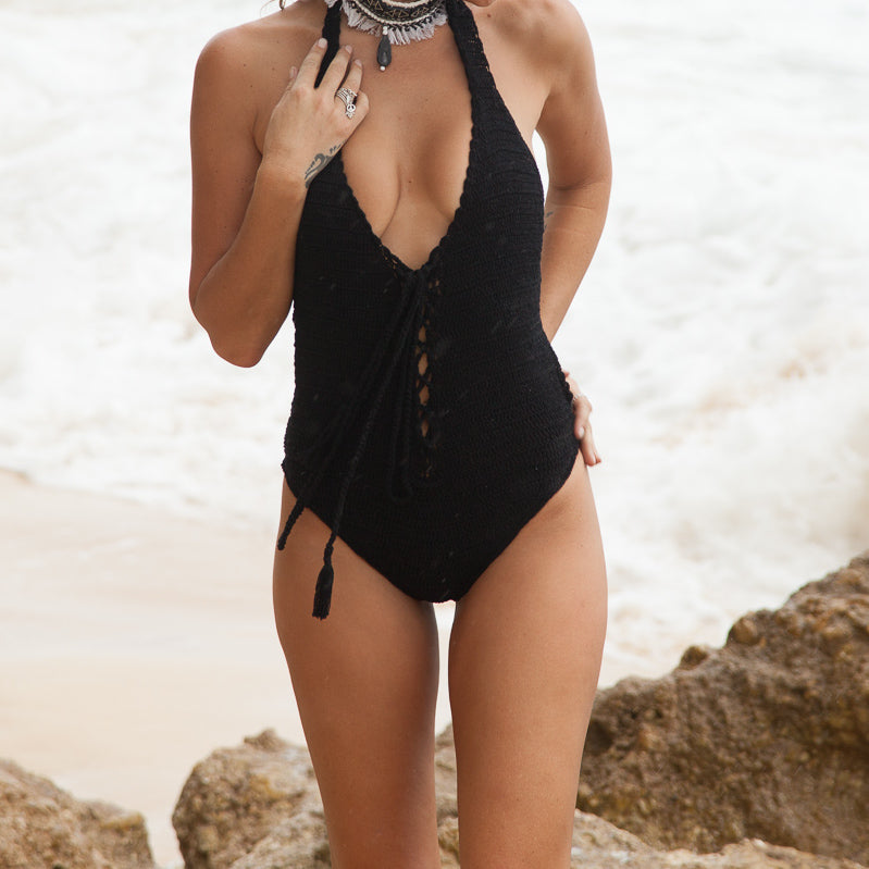 Lucia Lace-up One Piece Swimsuit