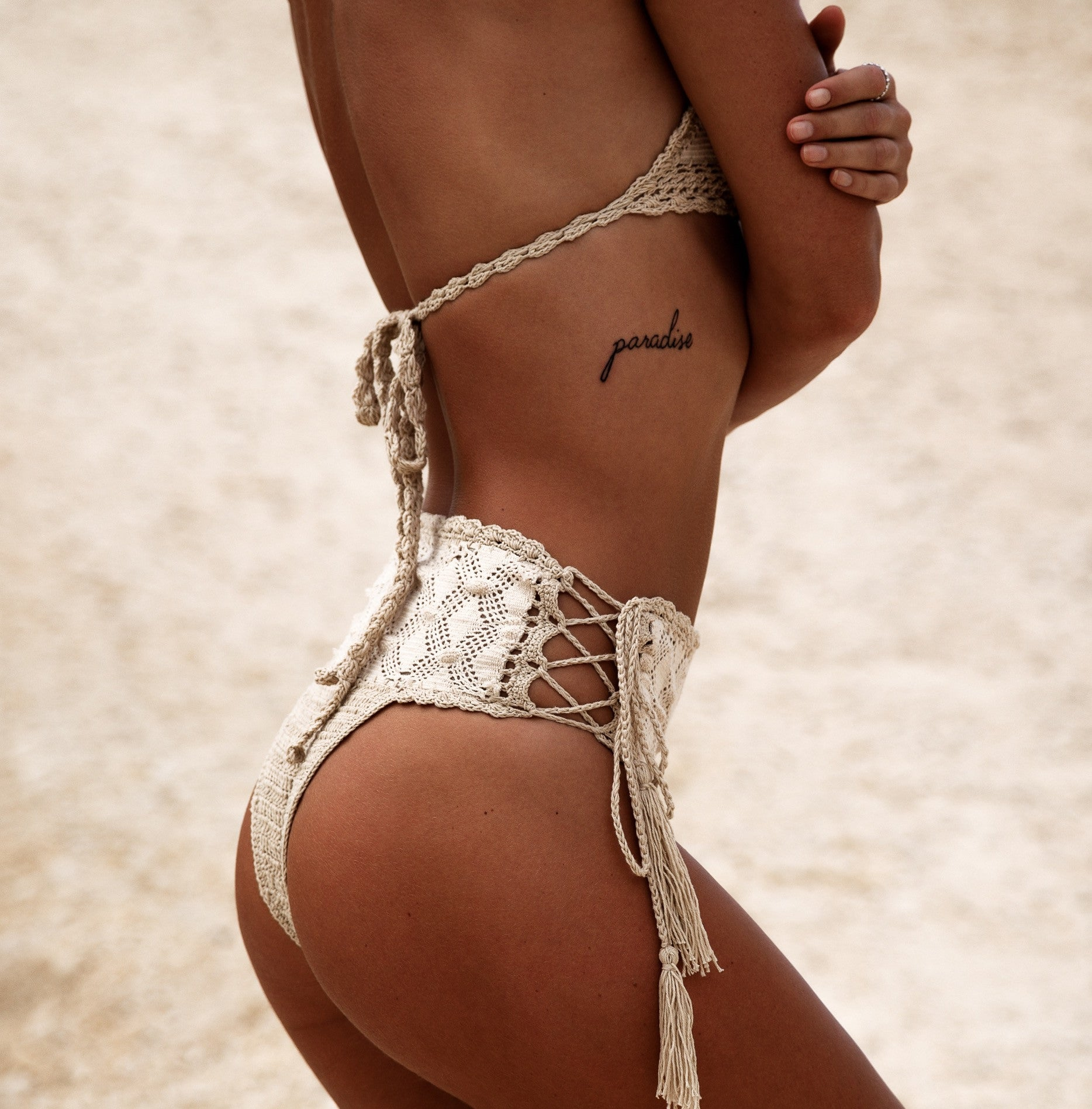 Carnaby Lace-Up Bikini Bottom