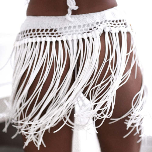 Cindy Fringed Mini Skirt