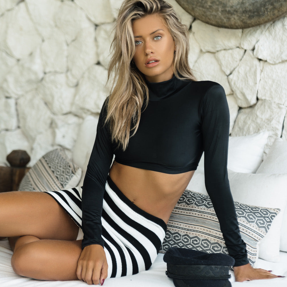Malibu Knit Mini Skirt