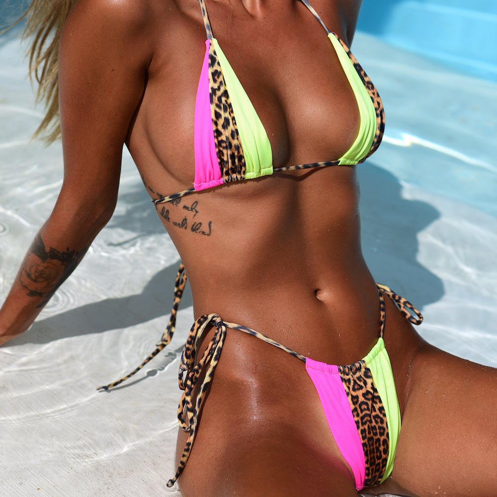 Shades of Yala Leopard with Neon Lime and Pink