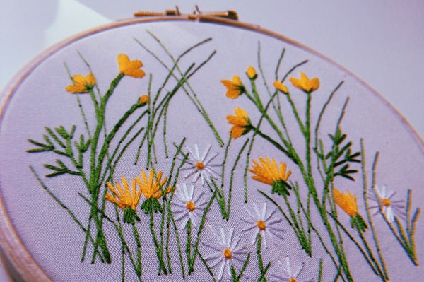 DIY Embroidery: Wildflower Meadow Hoop Kit