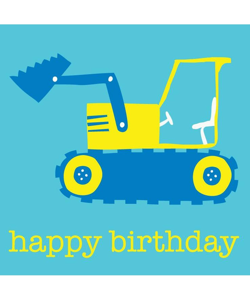Toby Tiger Digger Birthday Card