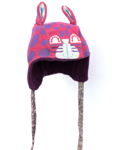 Merle Kids Purple Rabbitcat Bonnet