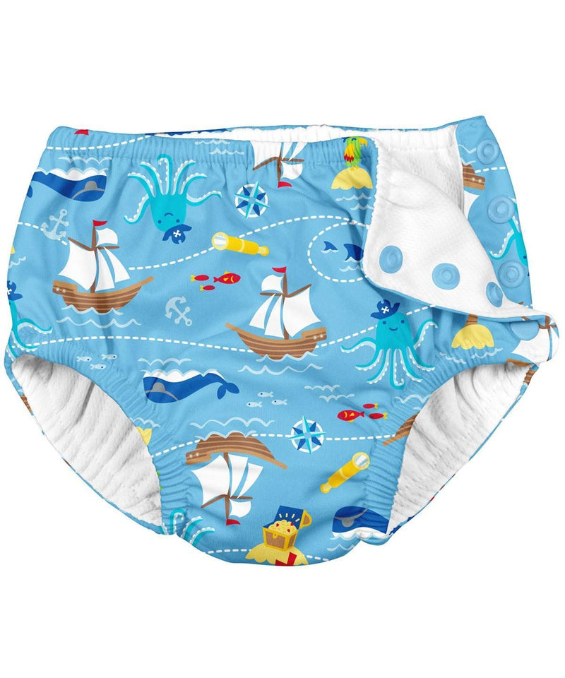 iPlay Blue Pirate Ship Reusable Swim Nappy