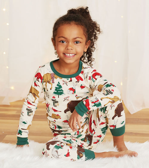 Hatley Little Blue House Woodland Winter Pyjamas