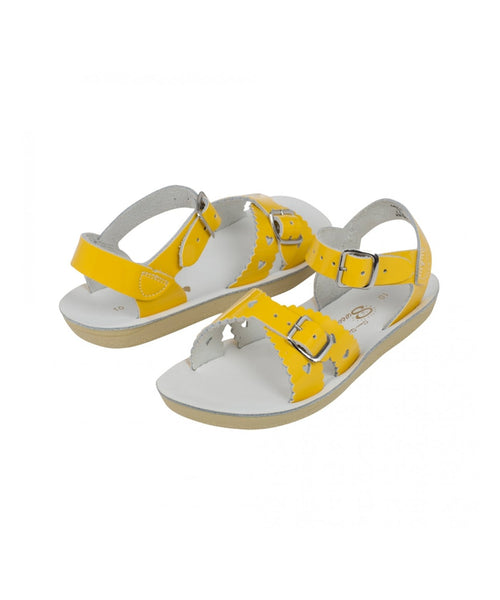 Salt-Water Sandals Sweetheart shiny Yellow - child