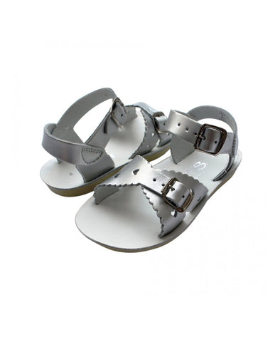 Salt-Water Sandals Sweetheart Silver - child