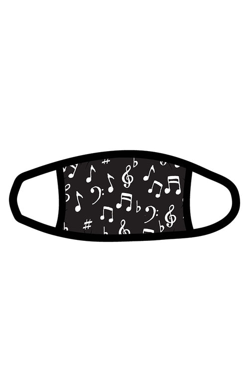 Hatley Little Blue Music Notes Adult Face Mask - Non Medical