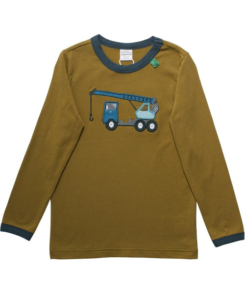 Fred's World Crane Appliqué Long Sleeved Top
