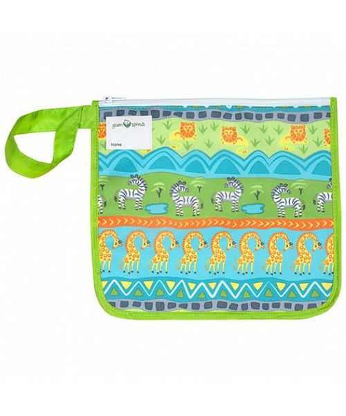 Green Sprouts Insulated Reusable Snack Bag in Green Safari