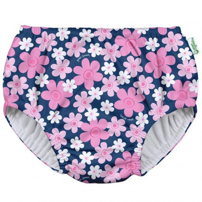 Green Sprouts iPlay Navy Blooms Pull Up Swim Nappy