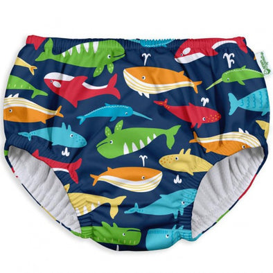Green Sprouts iPlay Navy Whale League Pull Up Swim Nappy
