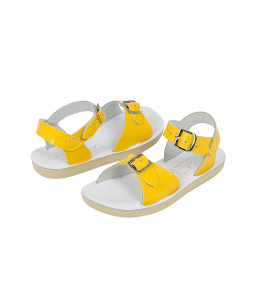 Salt-Water Sandals Surfer Shiny Yellow - child