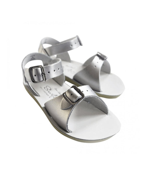 Salt-Water Sandals Surfer Silver - child