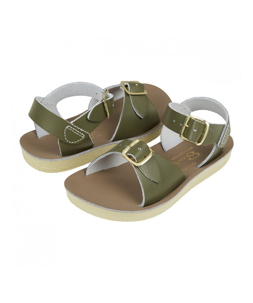 Salt-Water Sandals Surfer Olive - child