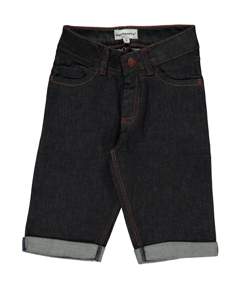 Maxomorra Dark Denim Blue Knee Length Shorts