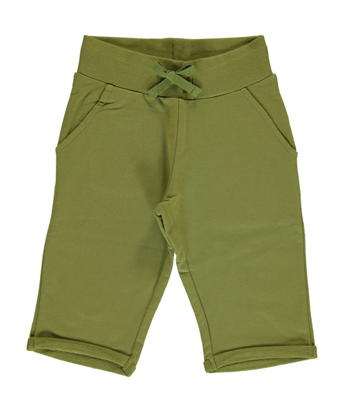 Maxomorra Apple Green Knee Length Shorts
