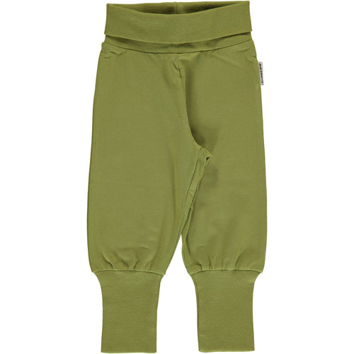Maxomorra  Apple Green Cotton Rib Pants