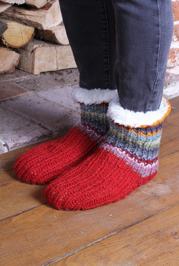 Pachamama Seville Slipper Socks- Suede Sole