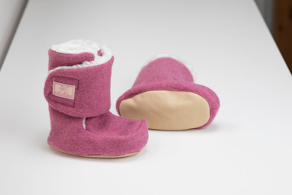 Pickapooh Trotter Sherpa Lined Booties Wild Rose