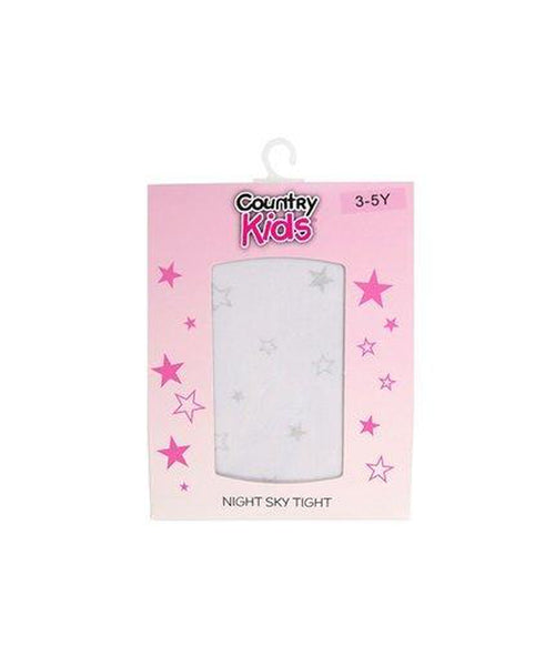 Country Kids Night Sky White/Silver Tights