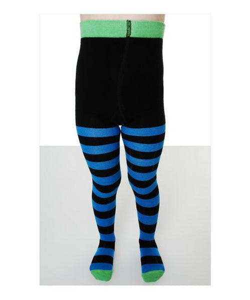 DUNS Blue/Black Stripe Tights