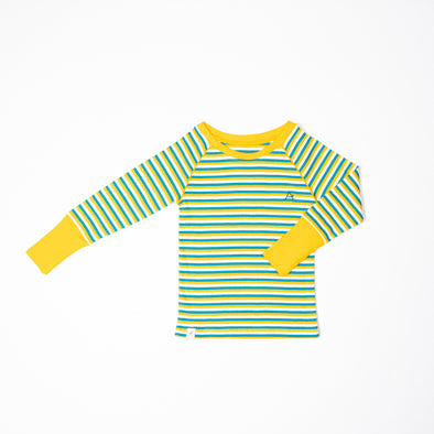 Alba Our Favourite Rib Long Sleeved Top - Turkish Tile Stripes