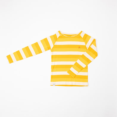 Alba Everyday Long Tee - Daffodil Stripes