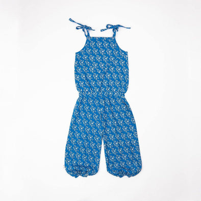 Alba Flower Liberty Jumpsuit - Snorkel Blue Liberty Love