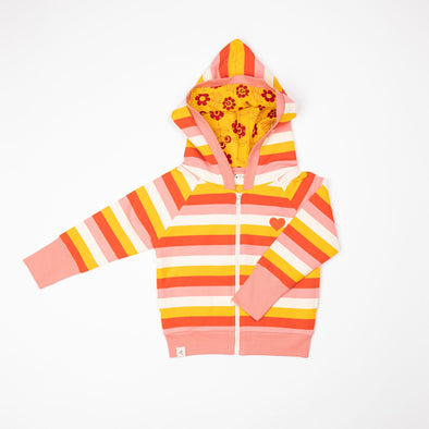 Alba All Time Zipper Hoodie - Strawberry Ice Stripes